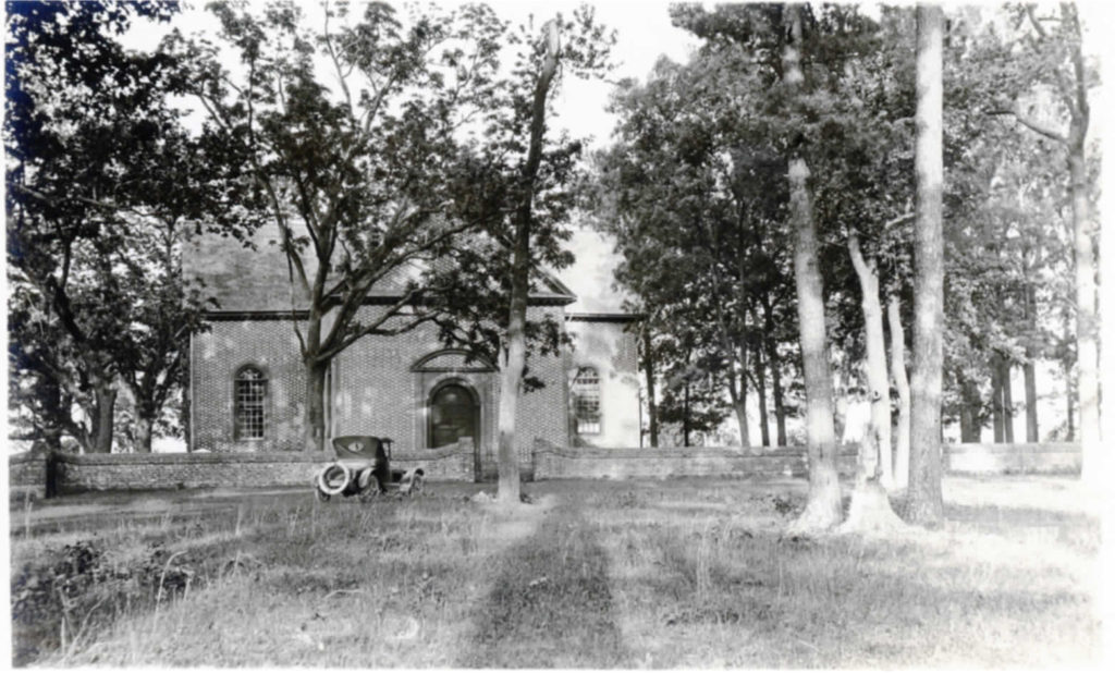 A view of Abingon Church in 1924.